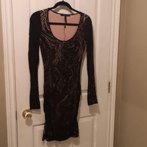 BCBG Maxazria Black / Beige evening dress